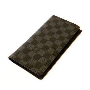 Authentic Vuitton Damier Graphite Brazza Wallet
